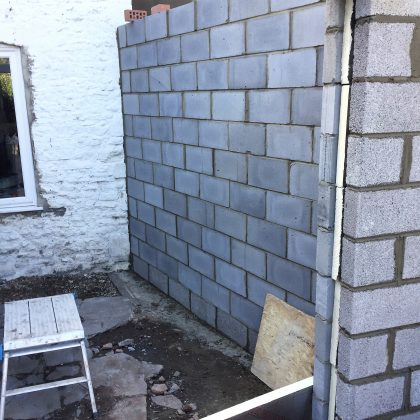 Walls of Extension Kingswood Bristol